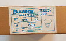 Bulbrite Mini Reflector Lamp Light Bulbs 25w 120v Box Qty 25 200025 STD Standard