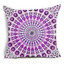Purple Pink  Mandala Pattern Beautiful Square Pillow Cushion Cover.