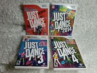Just Dance Nintendo Wii Game lot 1 3 4 and 2014 All Tested