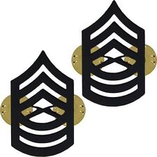 TWO 2 MASTER SERGEANT MYSGT E-8 LAEPL HAT COLLAR BLACK PIN SET RANK US MARINES