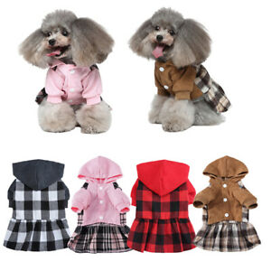 Winter Warm Dress Dog Clothes Small Dogs Puppy Pet Cat Coat Jacket Pets Costume