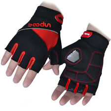 Black Sports Cycling Gloves Half Finger Mesh Bike Shockproof Glove Reflective