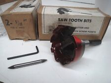 "SAWTOOTH BITS / SELF-FEED BITS 2-9/16 FOR 2"" PIPES (LL3067)"