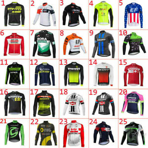 2021 mens team Thermal Fleece cycling  Long sleeve jersey cycling jeresys