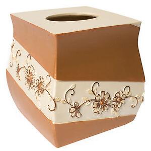 Popular Bath Veronica Bath Collection - Bathroom Tissue Box Cover
