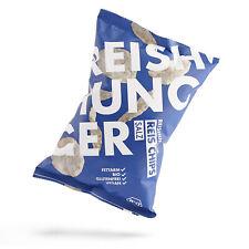 Reishunger Riz Chips de Bio Céréales Complètes Riz, Variété » Sel «, Vegan (50g)