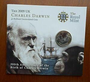 2009 2 Pounds - Darwin Mint Pack