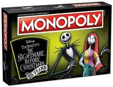 NEW Hasbro USAopoly Monopoly Disney Burton Nightmare Before Christmas Board Game