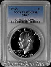 1976-S Silver Eisenhower Dollar PCGS PR69DCAM :  A TOP SOURCE FOR PROOF IKES !!