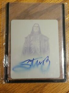 Sting Leaf signed on card Auto 1/1 print press plate leaf originals wwe wcw aew