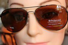 Polaroid Aviator Style Dark Ruthenium Metal Double Bar Sunglasses PLD2000/S