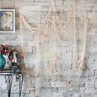 Nautical Fish Net Decor With Sea Shells Mediterranean Style Backdrop Decorative