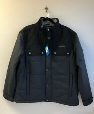 (C114) Columbia Men's Insulated Jacket black quilted shoulders Size XL
