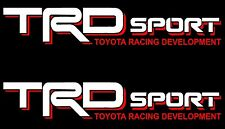 TOYOTA TRD SPORT DECALS /Vinyl Stickers 1 PAIR truck bed FREE SHIPPING WHITE RED