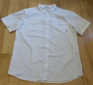 Columbia Omni Shade Men's White Short Sleeve Shirt Size L