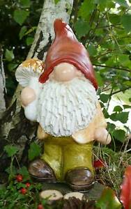 Figur Wichtel Zwerg Pilz 28cm Landhaus Herbst Gartenzwerg Geschäftsauflösung