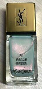 YSL nail polish 70 PEACE GREEN rare limited edition BNIB
