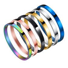 Fashion Men Women Stainless Steel Bracelet Couple Wristband Glossy Jewelry