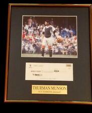 THURMAN MUNSON (Dec.) YANKEES ORIGINAL CHECK DEPOSIT TICKET W/FRAMED PHOTO COA