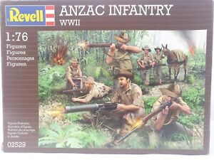 Revell ANZAC WWII Infantry Soldier Figures 1:76 Brown Plastic Scale Model Kit