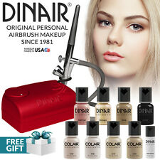 Dinair Airbrush Foundation Makeup Kit Pro | 10pc Make-Up Set | Fair Shades