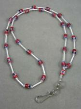 UNIQUE BEADED LANYARD/ ID BADGE HOLDER NECKLACE JEWELRY