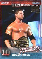 TNA Bobby Roode #39 2012 TENacious GOLD Parallel Card SN 9 of 10