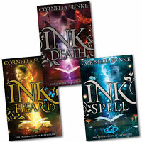 Inkheart Trilogy 3 Book Collection Set Pack Cornelia Funke Inkspell, Inkdeath