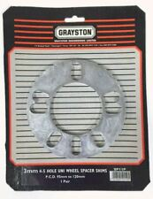 Grayston Pair 3mm Universal PCD 4 & 5 Hole Wheel Spacer Shim (SP11P)