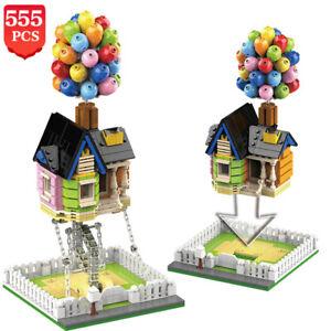 Architecture Flying Balloon House City Building Blocks 555pcs Creator House