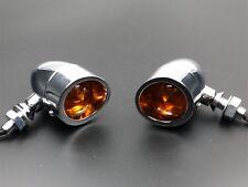 Chrome Bullet Turn Signal Light Indicator For Harley Triumph Victory Cafe VTX VT