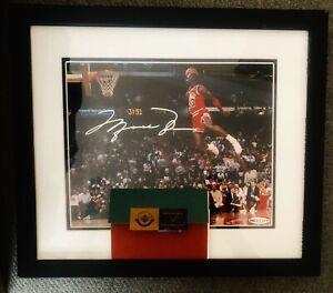Michael Jordan Signed Autograph 8x10 Framed Gatorade Slam Photo Upper Deck UDA