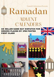 Eid Ramadan Mubarak Felt Advent Calendar Hanging Countdown Muslim 2021 Kid Gift