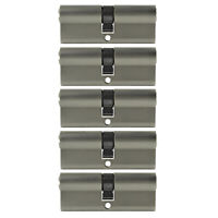 5x Profilzylinder 80mm 40/40 25x Schlüssel Tür Zylinder Schloss gleichschließend