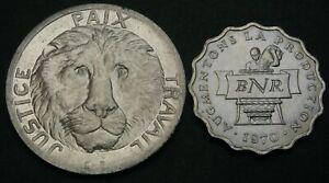 CONGO DEMOCRATIC REPUBLIC & RWANDA 2, 10 Francs 1965/1970 - 2 Coins. - 3769