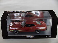 NEO 1/43 Ford Gran Torino Coupe Sport 1972 V8 Musclecar RS Mustang-red OVP 44740