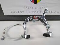 NOS Vintage Steel Front Brake Caliper Fits Moulton, Raleigh Chopper with Cable