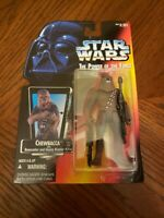 """MOC 1995 STAR WARS RARE POTF CHEWBACCA"""" RED CARD """"- UNOPENED KENNER"""