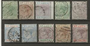 ST LUCIA  SELECTION OF USED Q.V.  SG 31, 34, 41, 43/48 & 50    GOOD/FINE