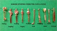 Woodturning Sportsmans Pen Clips in GOLD for 7mm Pen Kits