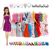 32 Pack Barbie Doll Clothes Party Gown Outfits Shoes Glasses Necklaces for Girl