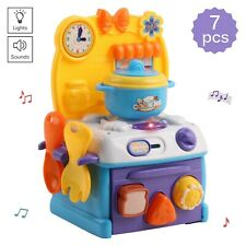 Vokodo Kids Kitchen Playset With Light And Music Includes Pots And More TK-25