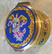 Beautiful Florentine Angel Enamel Halcyon Days Trinket Pill Box Neiman Marcus