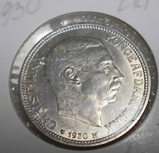 Denmark 2 Kroner  1930 Circulated / Silver / King's 60th Birthday