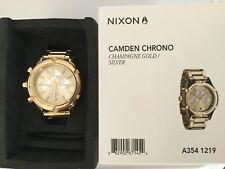 Nixon women's small Camden Chrono gold EUC