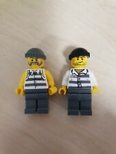 Lego Minifigure pair of  Police Jail Prisoners
