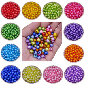 40/20Pcs 8 10mm Transprament Solid Loose Beads DIY For Jewelry Making Wholesale