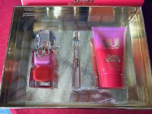 Juicy Couture Oui Edp 50 Ml + Edp 10 Ml + 100ml Body Cream Perfume 3 Pc Gift Set