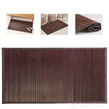 Bamboo Floor Mat Bathroom Rug Wood Natural Mocha Non Skid Home Decor 21x34in