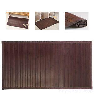 "Bamboo Floor Mat Bathroom Rug Wood Natural Mocha Non Skid Home Decor 34"" x 21"""